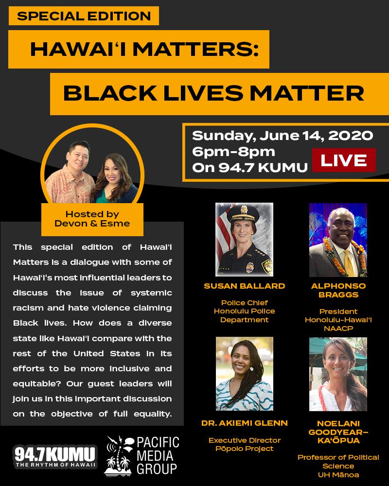 Hawaii Matters: Black Lives Matter Flyer